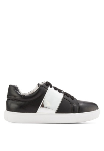 addicts anonymous black Violet Metallic Strap Sneakers AD479SH46MJPMY_1