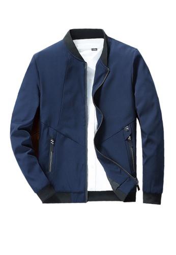 Twenty Eight Shoes blue VANSA  Simple Casual Coat VCM-C619 151F3AA22CE16FGS_1