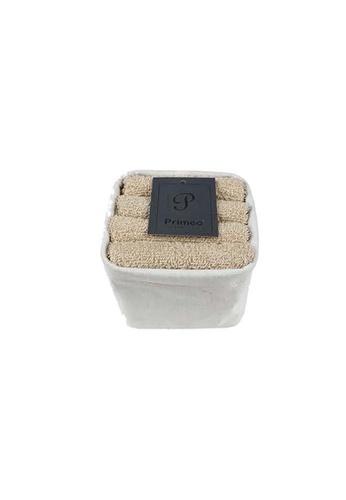 Primeo beige Premium 1Beige Hand Towel Set With Basket 300gsm Soft High Absorbent Beige Set of 4 70E1DHL202D0D6GS_1