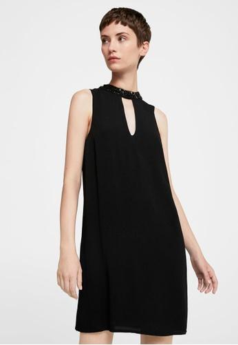 Mango Black Crystal Collar Dress Ma193aa0rbx7my 1