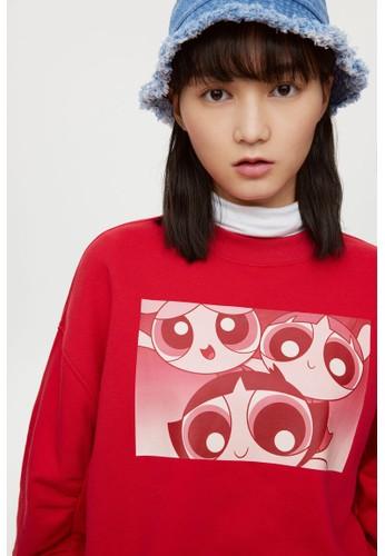 H&M red Oversized sweatshirt 80555AA6013A33GS_1