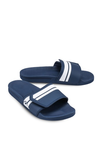 Quiksilver Rivi Sliders in Blue//White//Blue