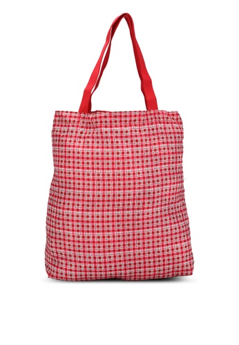 Cath Kidston red Painted Check Small Foldaway Tote 98D8CACBDBCD06GS_1