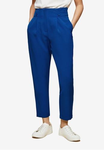 Dorothy Perkins blue PETITE Cobalt High Waist Trousers 86146AA6412850GS_1
