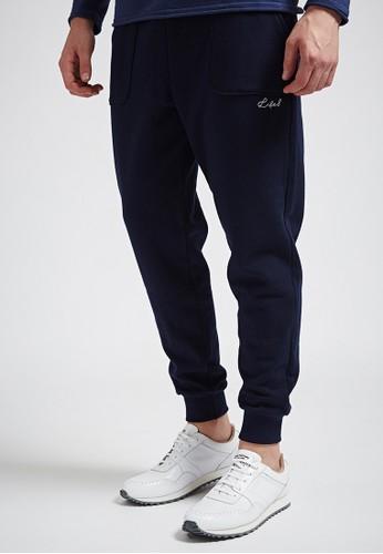 舒適休閒。京站 esprit高磅大絨。純棉縮口長褲-MIT-02348-丈青, 服飾, 直筒褲