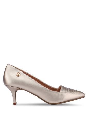 Bata gold Pointed Toe Heels D75B4SHF2E944DGS_1