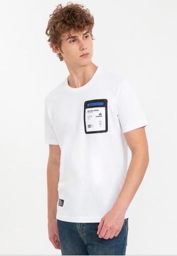 Bossini white Short Sleeve Print Tee ED861AA5349274GS_1