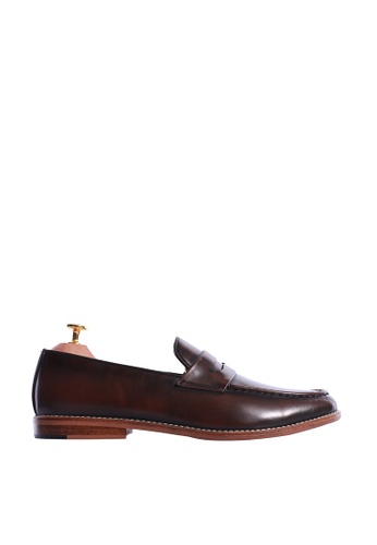 Zeve Shoes brown Zeve Shoes Penny Loafer - Dark Brown Polished Leather BD48CSH02C4B63GS_1