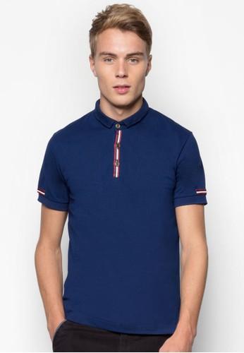 條紋邊飾POesprit 價位LO 衫, 服飾, Polo衫