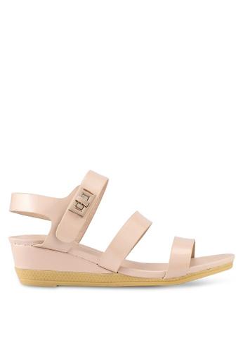 Mimosa beige Twist Lock Strap Sandals 697BDSH9CEFC49GS_1
