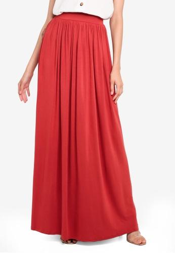 efe7ff7b46 Buy Boohoo Floor Sweeping Jersey Maxi Skirt Online on ZALORA Singapore