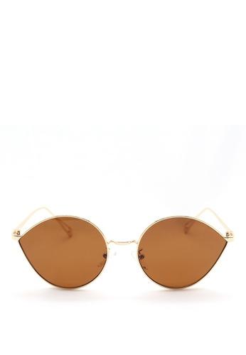 Kaca-kaca gold and brown Kaca Kaca Linnett Sunglasses ABD05GL502571AGS_1