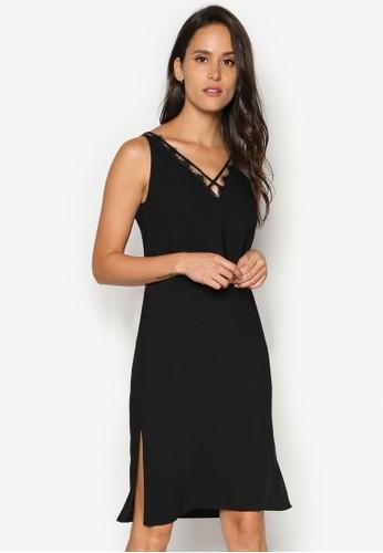 蕾絲滾邊多帶連esprit旗艦店身裙, 服飾, 洋裝