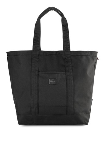 Herschel black Bamfield Mid-Volume Tote - Foundation DC353AC0357478GS_1