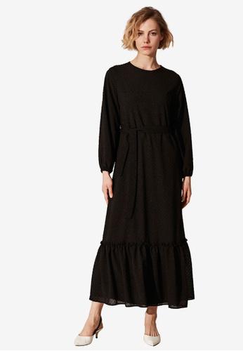 LC Waikiki black Belted Long Dress C5E44AAEBF0301GS_1