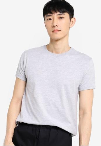 ZALORA BASICS grey Crew Neck T-Shirt 5C25FAA78688B7GS_1