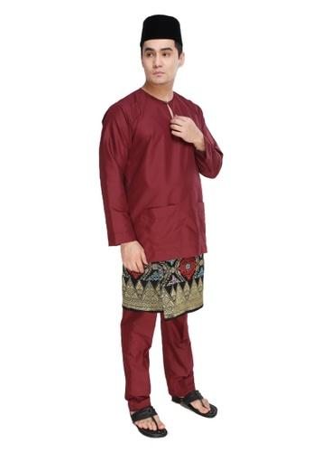 Amar Amran red Baju Melayu Teluk Belanga F5EF7AAB153F9FGS_1