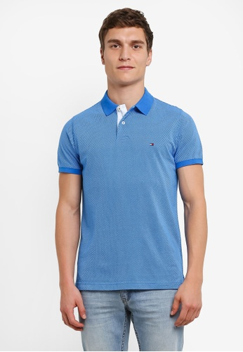 Tommy Hilfiger blue WCC CROSS HATCH PRT POLO S/S S TO861AA0SEPQMY_1