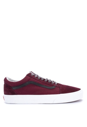 VANS red Jersey Lace Old Skool Sneakers 52FFESH02C1321GS_1