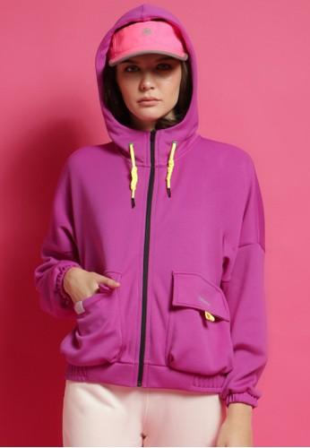 Corenation Active yellow and purple Novela Jacket Premium - Purple / Yellow 62CA6AA74E3FE1GS_1