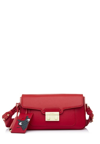 BONIA red Red Cultura Shoulder Bag M BD6DEACFDE4325GS_1