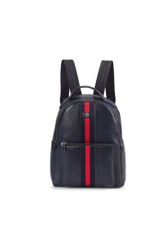 Charles Berkeley blue Charles Berkeley Burlington Leather Backpack E532BACF59CC47GS_1