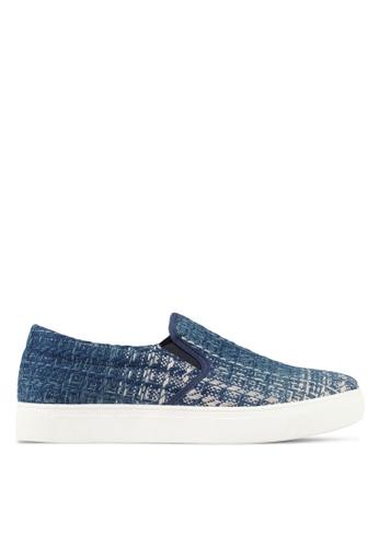 JAXON blue Fabric Slip Ons F4F98SH00B3E6CGS_1