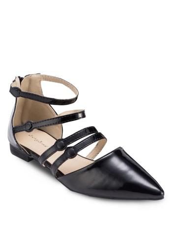 多帶尖頭平底鞋, zalora開箱女鞋, 鞋