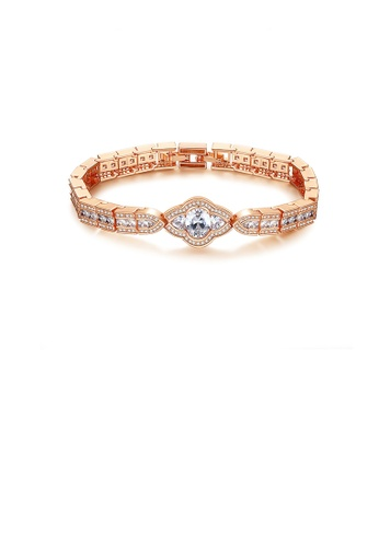Glamorousky white Fashion Vintage Plated Rose Gold Palace Style Geometric Bracelet with Cubic Zirconia D0ACDACD23B5A1GS_1