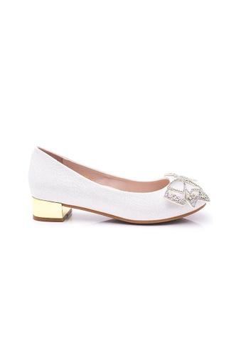 Elisa Litz silver Julianne Low Heels (Silver) 3C425SH71AB582GS_1