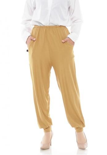 First Hijab yellow Inner Pants in Cream 3839FAA0C2E107GS_1