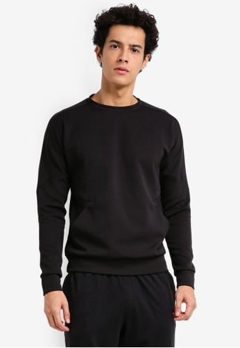 Calvin Klein black Tech Sweat Pullover - Calvin Klein Performance 26684AA106F6C2GS_1