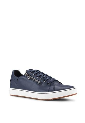 UniqTee blue Zipped Low-Top Sneakers UN097SH98IMNMY_1