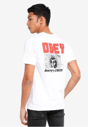 OBEY white Heavy Duty Creeps T-Shirt C09DDAAABFE996GS_1