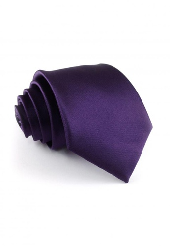 Tieline purple Plum Standard Microfiber Solid Necktie TI886AC83UOQPH_1