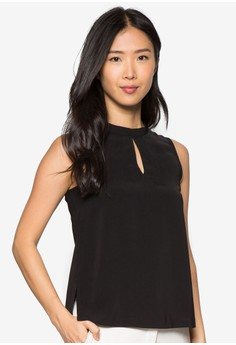 Collection High Neck Side Slit Top