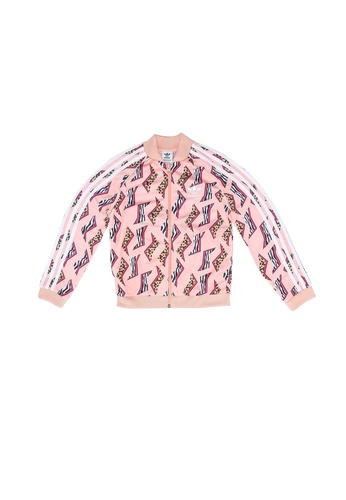 ADIDAS pink all-over print sst track jacket 9F00BKA6E83D29GS_1