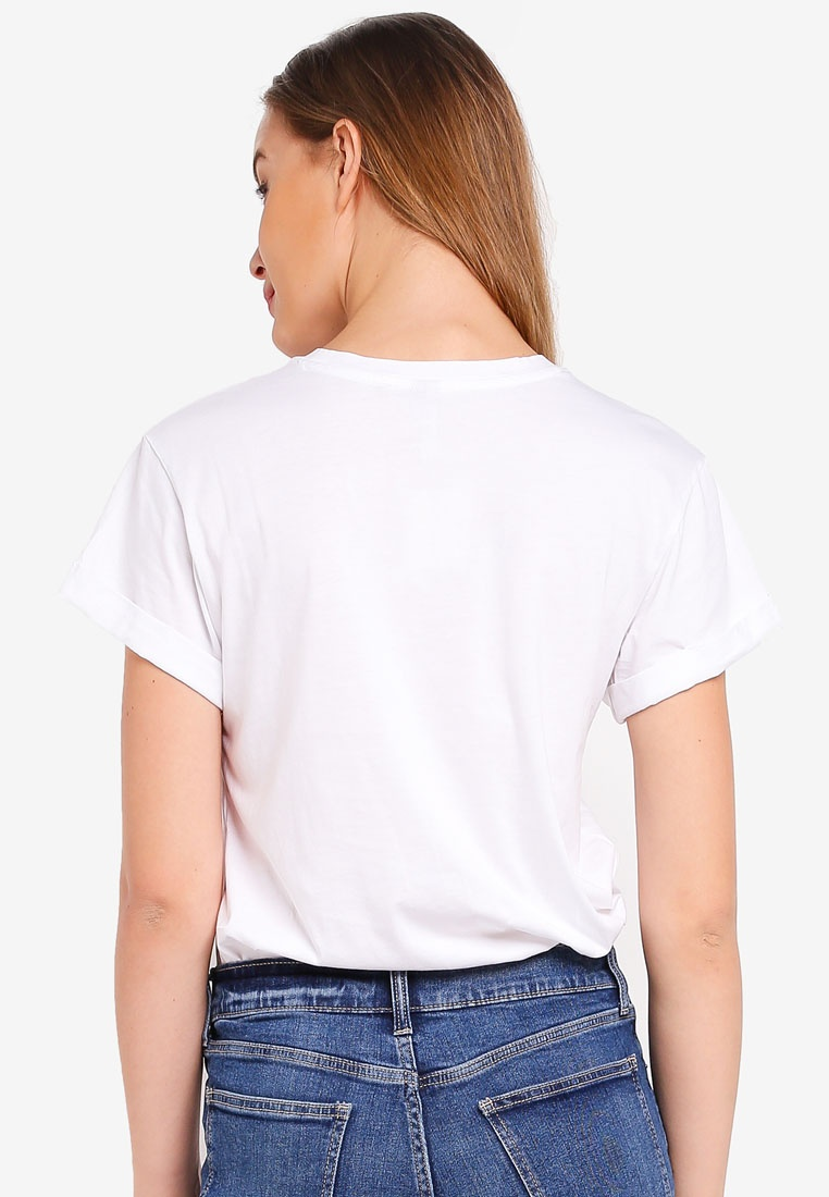 Lovely White Bf Top Pure Republic Banana Crew Supima qRBZWwa