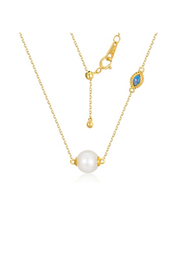 SUNSET gold Premium 18K Gold Pearl Necklace CDEB3ACE58D358GS_1