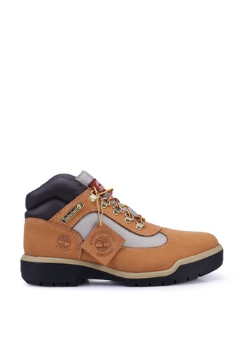 Timberland brown Field Boot Waterproof Leather and Fabric Mid Boots 83A61SHDD4968AGS_1