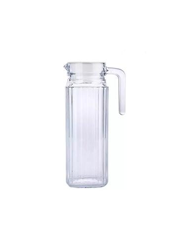 Luminarc Luminarc 1000ML Glass Jug with Lid / Fridge Jug / Glass Pitcher / Glass Jug / Juice Pitcher - Quadro White 2B18FHL054124BGS_1