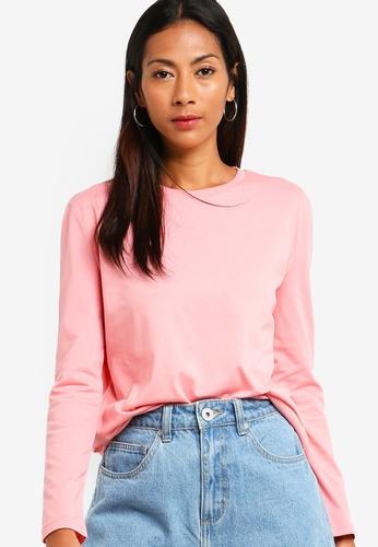 ZALORA BASICS pink Basic Long Sleeve Shirt 5A244AAAA5D7D8GS_1