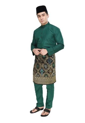 Amar Amran green Baju Melayu Moden 2F0DAAAEB6192EGS_1