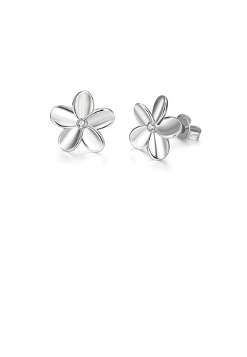 Glamorousky white Popular Simple Flower Stud Earrings 2AEA2AC579CB75GS_1