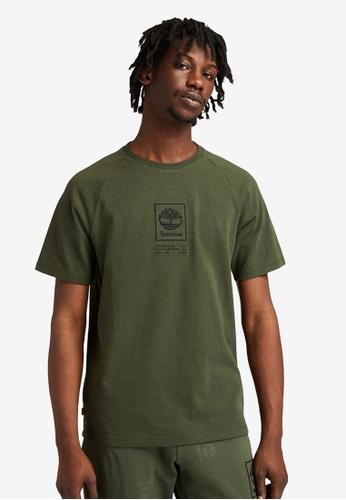 Timberland green Heavyweight Logo T-Shirt CC97DAA1053B3FGS_1