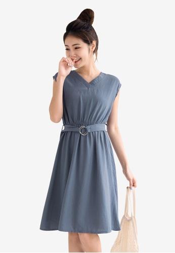 Tokichoi blue Belted Basic Dress FB223AA52E94B6GS_1
