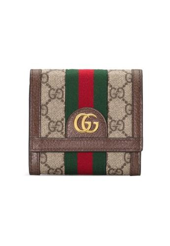 GUCCI beige Gucci Ophidia Tri-Fold Wallet in Beige/Ebony 9E9ADAC21BE399GS_1
