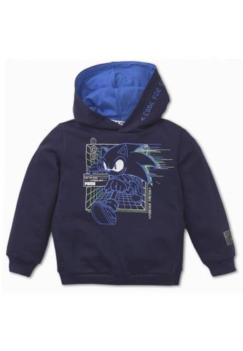 Puma blue PUMA x SEGA Kids' Hoodie 8388AKA5E39B57GS_1