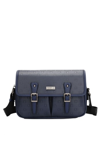 Playboy blue Faux Leather Sling Bag A3539ACD595688GS_1