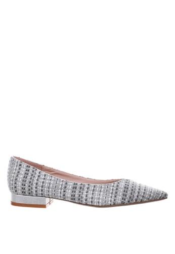 PRODUIT PARFAIT grey Pointed Toe Ballerina 57B2ESH8D51A40GS_1